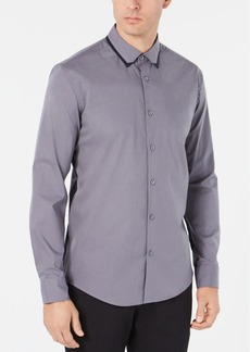 Alfani Men's Regular-Fit Performance Stretch Contrast-Pieced Shirt, Created for Macy's