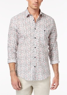 Alfani Men's Regular Fit Printed Shirt, Created for Macy's
