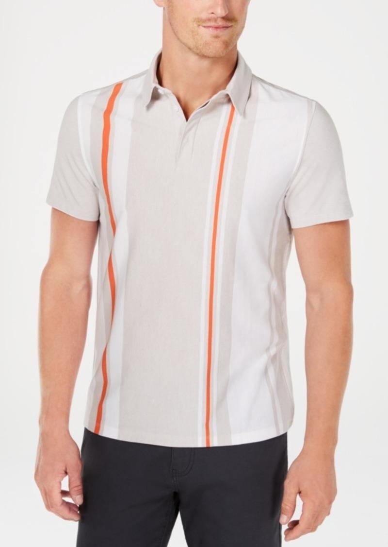 Alfani Men's Regular-Fit Vertical Stripe Polo, Created for Macy's