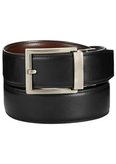 Alfani Men's Reversible Faux-Leather Compression Belt, Created for Macy's