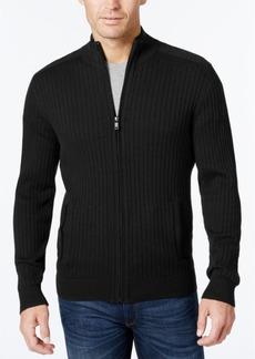 Alfani Men's Ribbed Full-Zip Sweater, Classic Fit, Created for Macy's