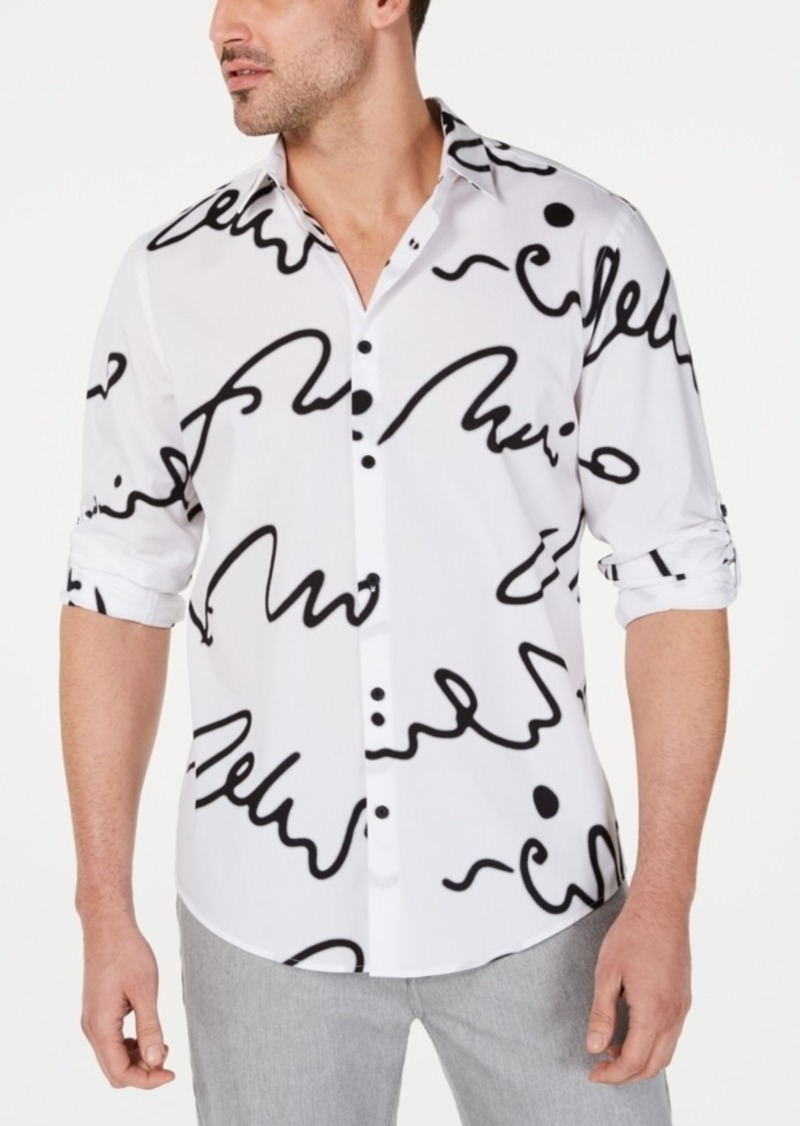 Alfani Men's Scribble-Print Shirt, Created for Macy's