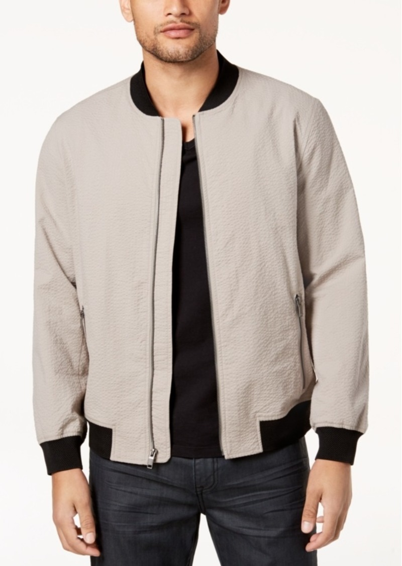 125dcad3a Men's Seersucker Bomber Jacket, Created for Macy's