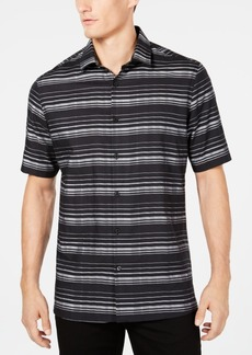 Alfani Men's Short-Sleeve Striped Shirt, Created for Macy's