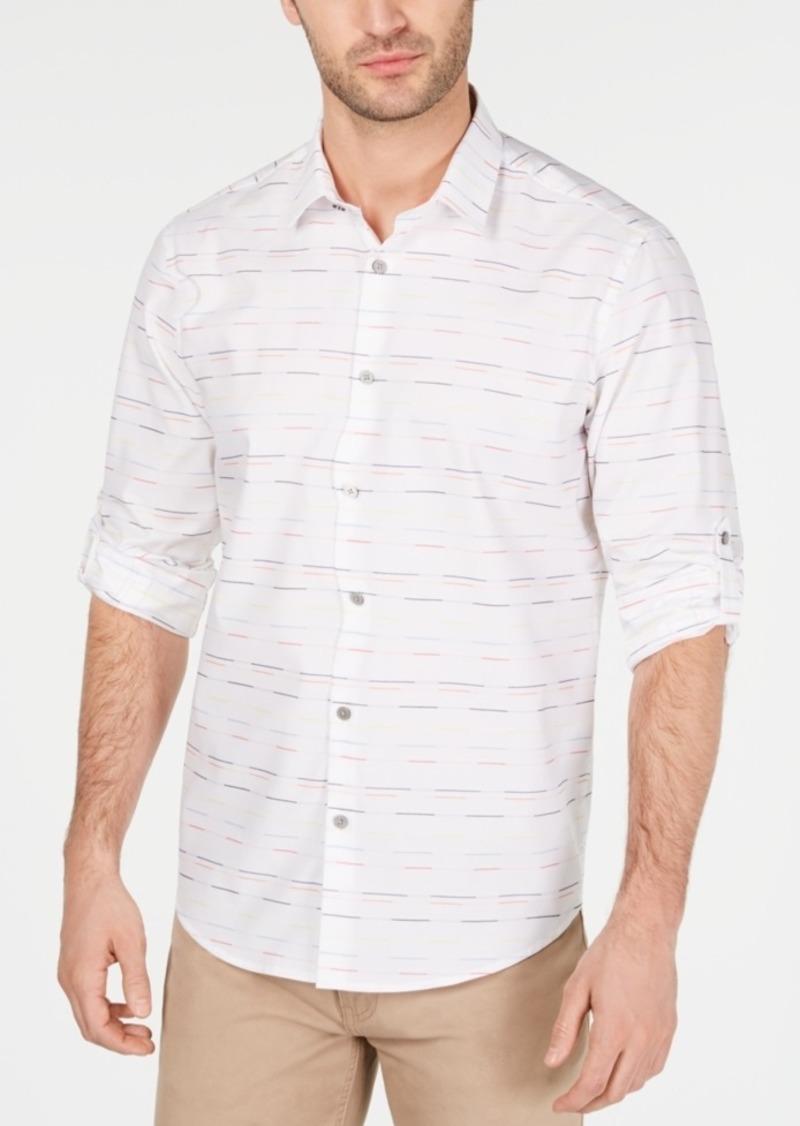 Alfani Men's Skip Stripe Shirt, Created for Macy's