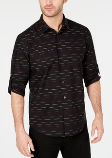 Alfani Men's Skip Stripe Shirt, Created for Macy's