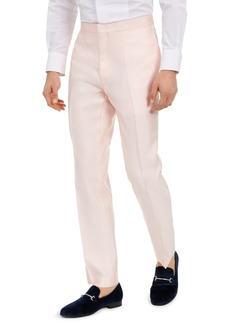 Alfani Men's Slim-Fit Stretch Pink Solid Tuxedo Pants, Created for Macy's