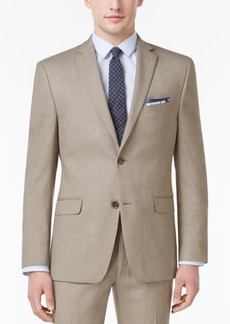 Alfani Men's Slim-Fit Traveler Light Brown Neat Jacket, Only at Macy's