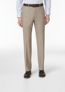 Closeout! Alfani Men's Slim-Fit Traveler Light Brown Neat Pants, Created for Macy's