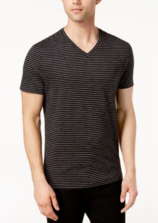 Alfani Men's Space-Dyed Stripe V-Neck T-Shirt, Created for Macy's