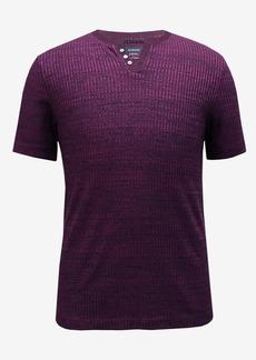 Alfani Men's Split-Neck Ribbed T-Shirt, Created for Macy's