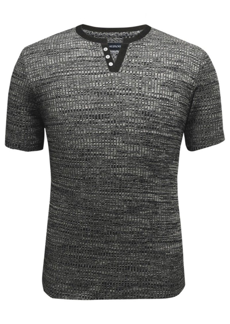 Alfani Men's Split-Neck Ribbed T-Shirt, Created for Macy's