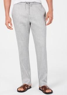 Alfani Men's Stretch Linen Blend Drawstring Pants, Created for Macy's