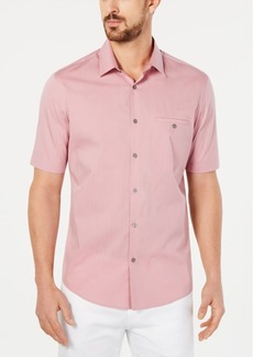 Alfani Men's Stretch Modern Stripe Pocket Shirt, Created for Macy's