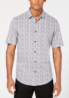 Alfani Men's Textured Geo-Print Shirt, Created for Macy's