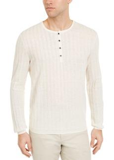 Alfani Men's Textured Henley Sweater, Created for Macy's