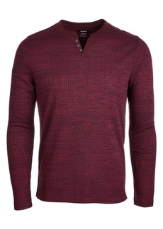 Alfani Men's Textured Space-Dyed Stretch Henley, Created for Macy's