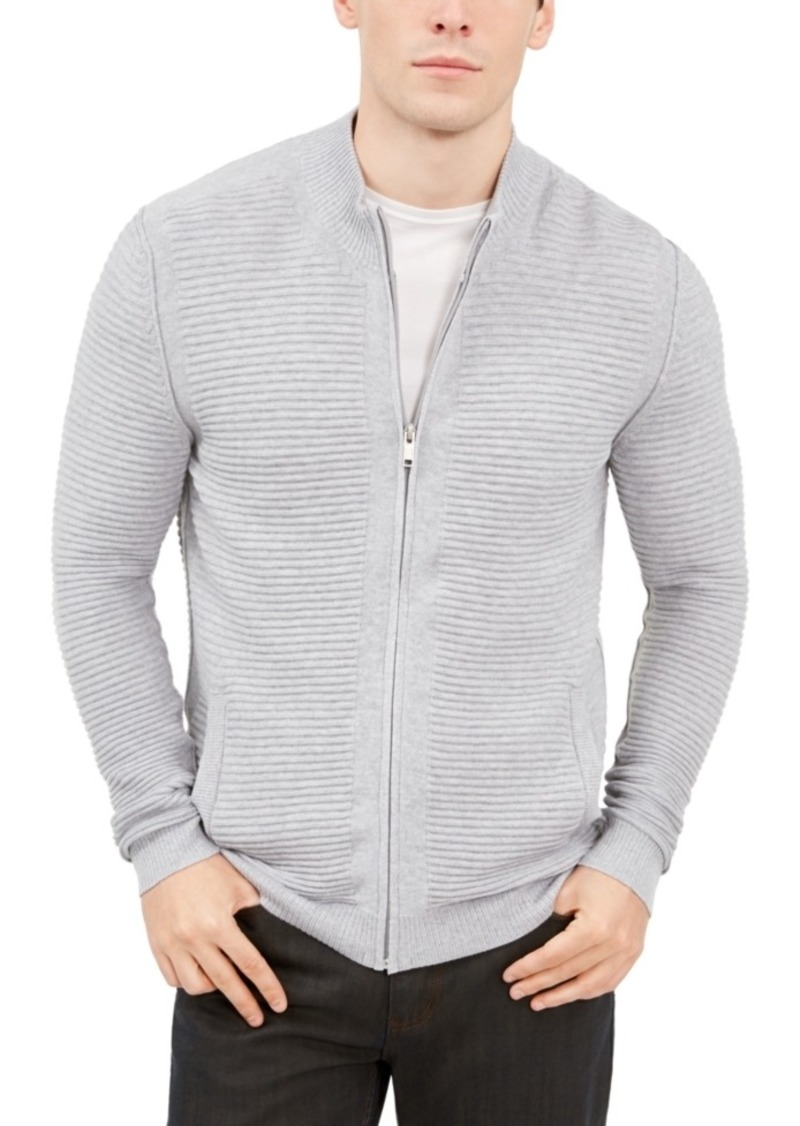Alfani Men's Textured Zip-Front Cardigan, Created For Macy's