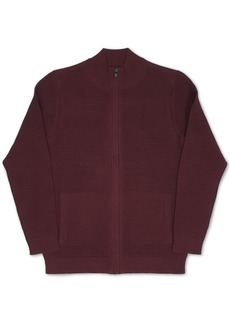 Alfani Men's Tonal Ottoman Textured Cardigan, Created for Macy's