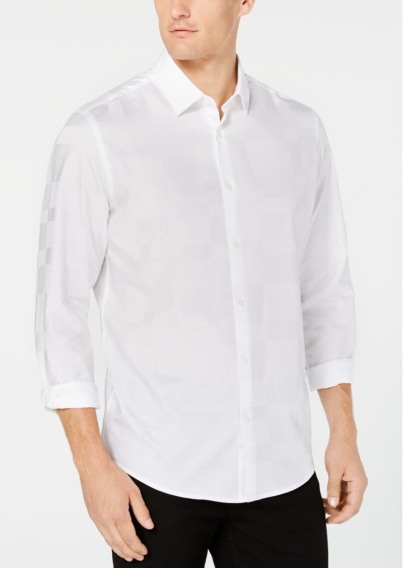 Alfani Men's Tonal Plaid Shirt, Created for Macy's