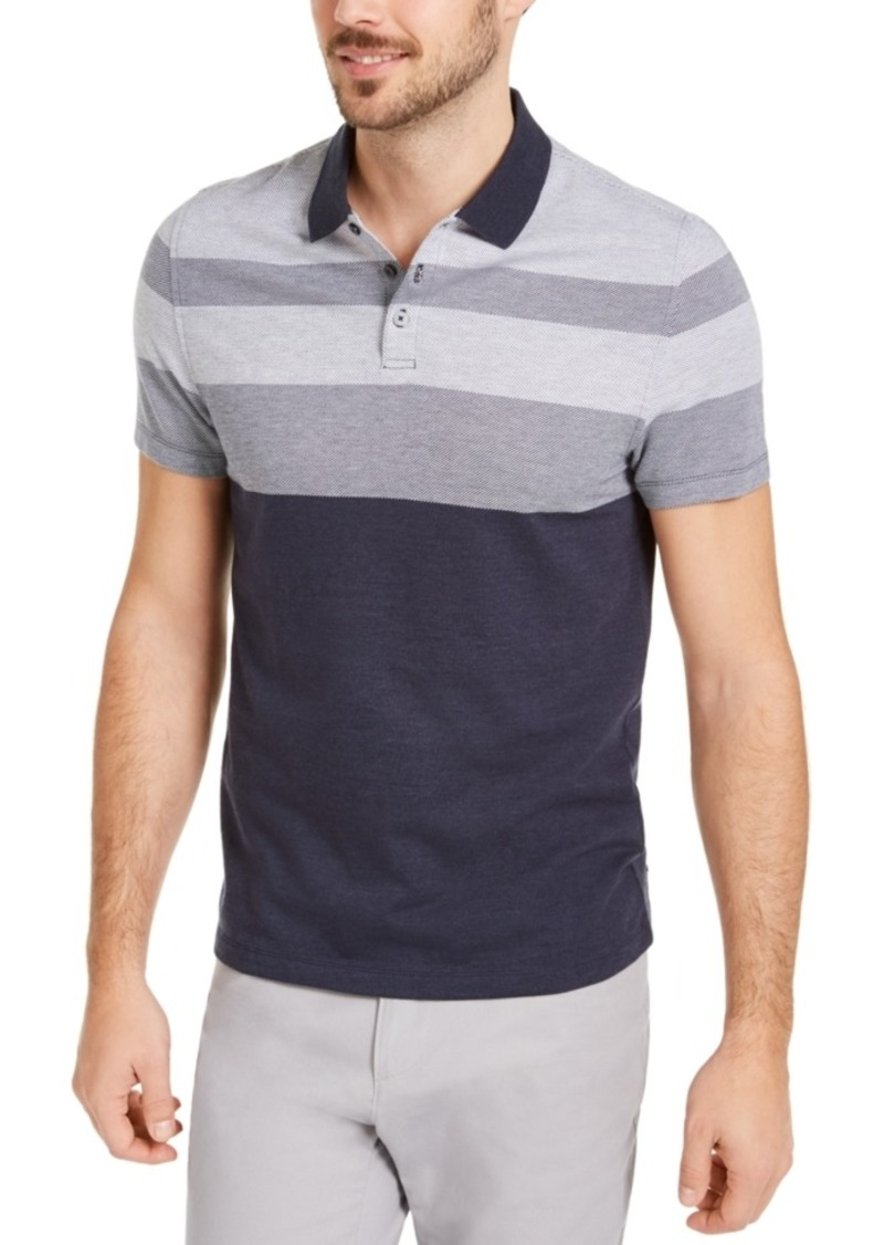 Alfani Men's Twill Striped Polo Shirt, Created for Macy's