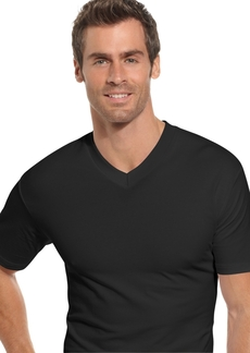 Alfani Men's Underwear, Tagless Cotton Spandex 2 Pack V Neck Undershirts