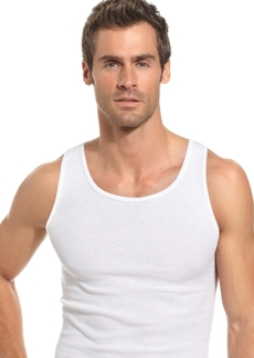 Alfani Men's Big & Tall Underwear, Tagless Tank 4 Pack
