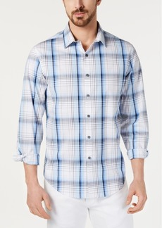Alfani Men's Stretch Union Plaid Shirt, Created for Macy's