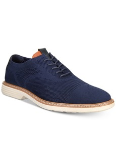 Alfani Men's Varick Alfatech Comfort Flx Textured Knit Oxfords, Created for Macy's Men's Shoes