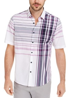 Alfani Men's Varied Plaid Shirt, Created for Macy's