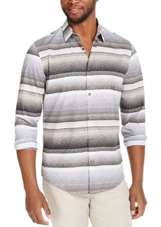 Alfani Men's Varied Stripe Shirt, Created for Macy's