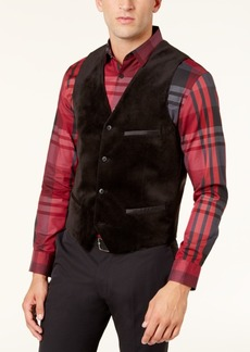 Alfani Men's Velvet Satin-Trim Vest, Created for Macy's