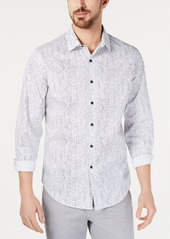 Alfani Men's AlfaTech Stretch Vertical Skip Graphic Shirt, Created for Macy's