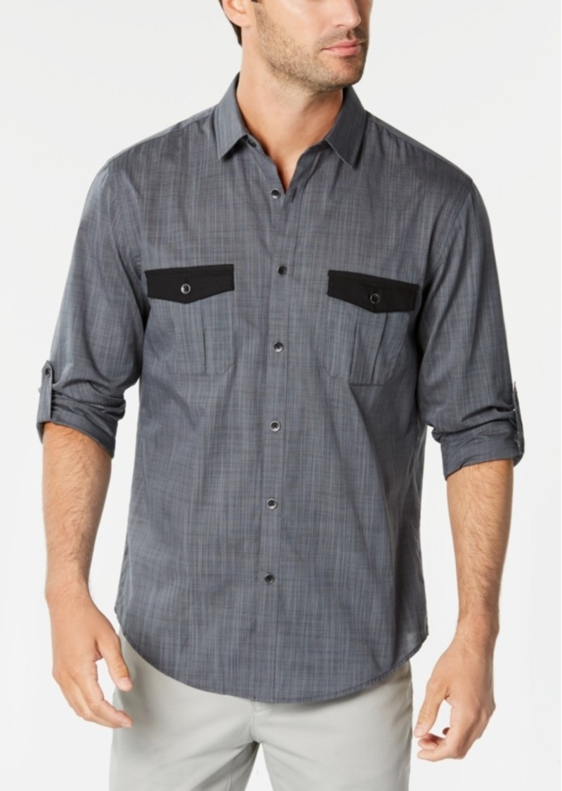 Alfani Men's Warren Contrast-Pocket Woven Shirt, Created for Macy's
