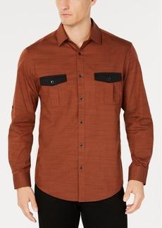 Alfani Men's Warren Contrast-Pocket Woven Shirt, Created for Macy's