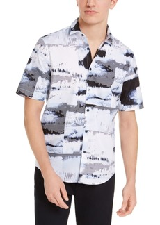 Alfani Men's Watercolor Shirt, Created for Macy's