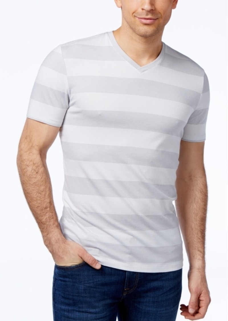 e66e859be69f Alfani Alfani Men's Wide Striped V-Neck T-Shirt, Created for Macy's ...