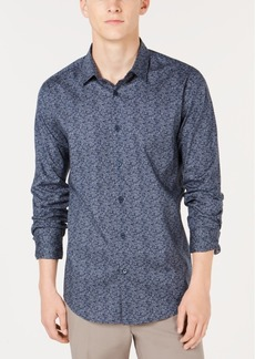 Alfani Men's Woven Geometric Shirt, Created for Macy's
