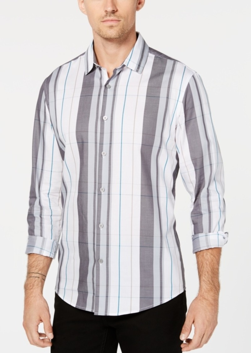 Alfani Men's Woven Plaid Shirt, Created for Macy's