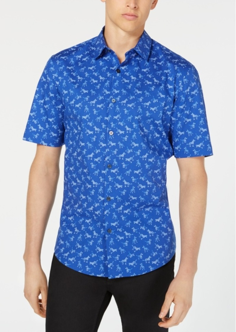 Alfani Men's Zebra-Print Shirt, Created for Macy's
