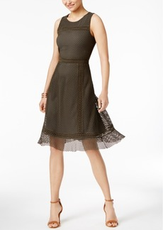 Alfani Mesh Fit & Flare Dress, Only at Macy's