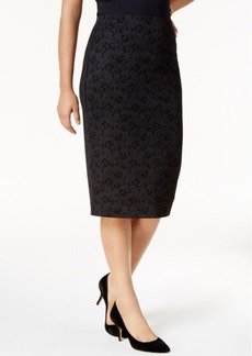 Alfani Metallic Lace Midi Skirt, Created for Macy's