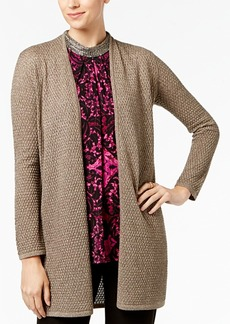 Alfani Petite Metallic Textured Cardigan, Created for Macy's
