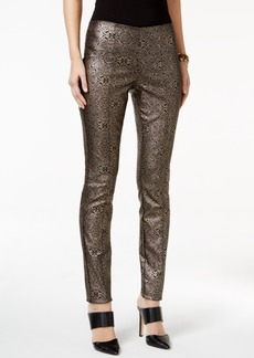Alfani Metallic Paisley-Print Pants, Only at Macy's
