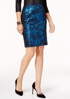 Alfani Metallic Pencil Skirt, Created for Macy's