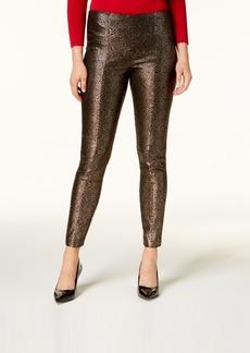 Alfani Metallic Ponte Skinny Pants, Created for Macy's