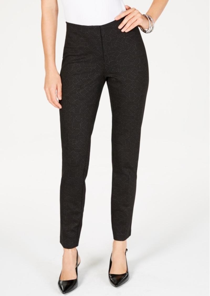Alfani Metallic-Print Slim-Leg Pants, Created for Macy's