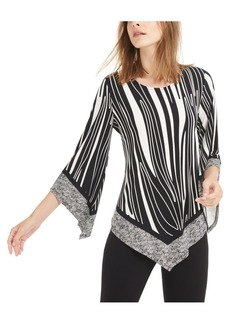 Alfani Mixed Print V-Hem Top, Created For Macy's