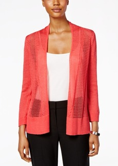 Alfani Mixed-Stitch Cardigan, Only at Macy's