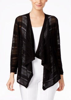 Alfani Mixed-Stitch Draped Cardigan, Only at Macy's